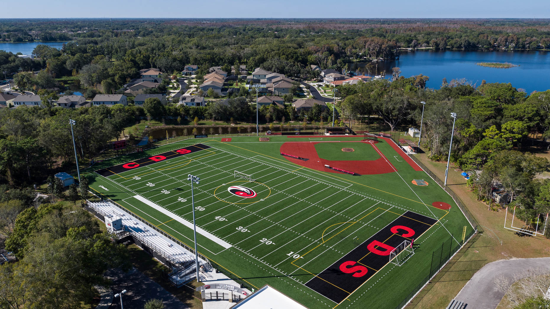 Aerial Carrollwood Day School Sports Complex - Mark Borosch Photography - Tampa, FL