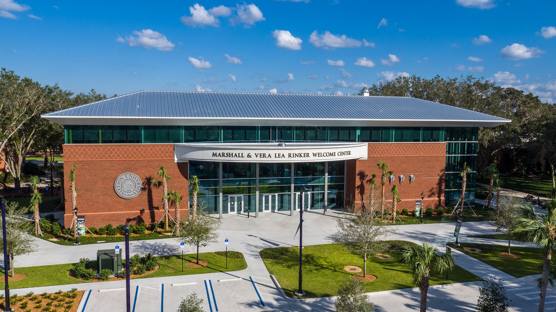 Aerial Stetson University Welcome Center - Mark Borosch Photography - DeLand, FL
