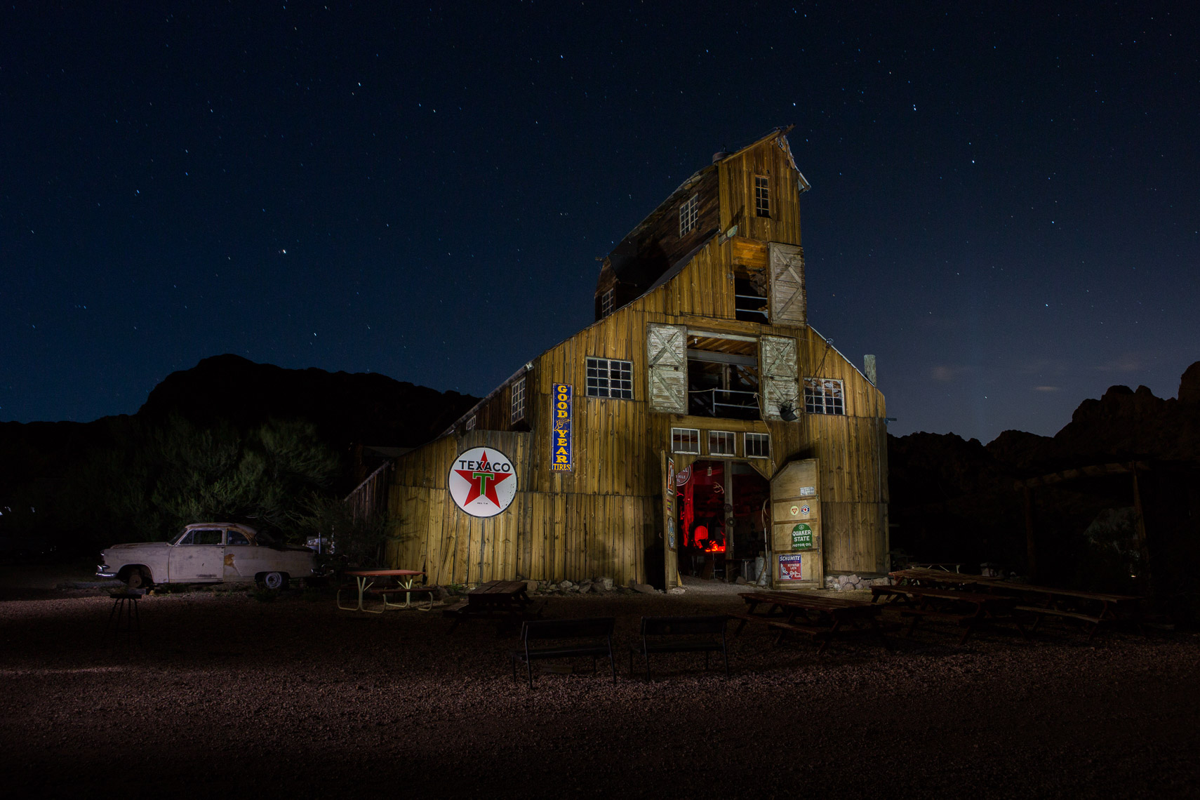 Barn Light Painting - Mark Borosch Photography - Nelson, NV
