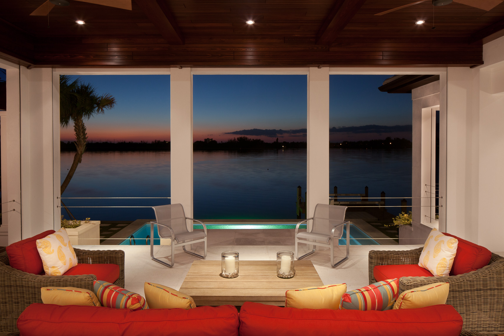 Modern Outdoor Living - Mark Borosch Photography - Bird Key, FL
