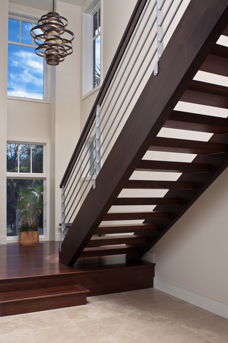 Modern Staircase - Mark Borosch Photography - Casey Key, FL