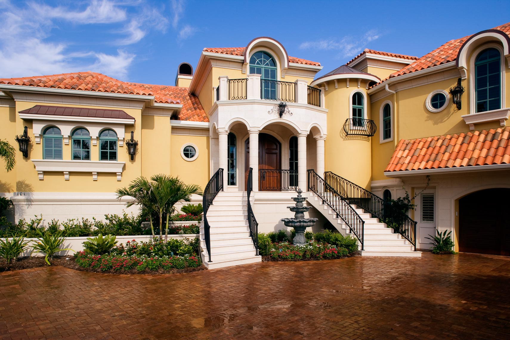 Costal Mediterranean Home - Mark Borosch Photography - Bird Key, FL