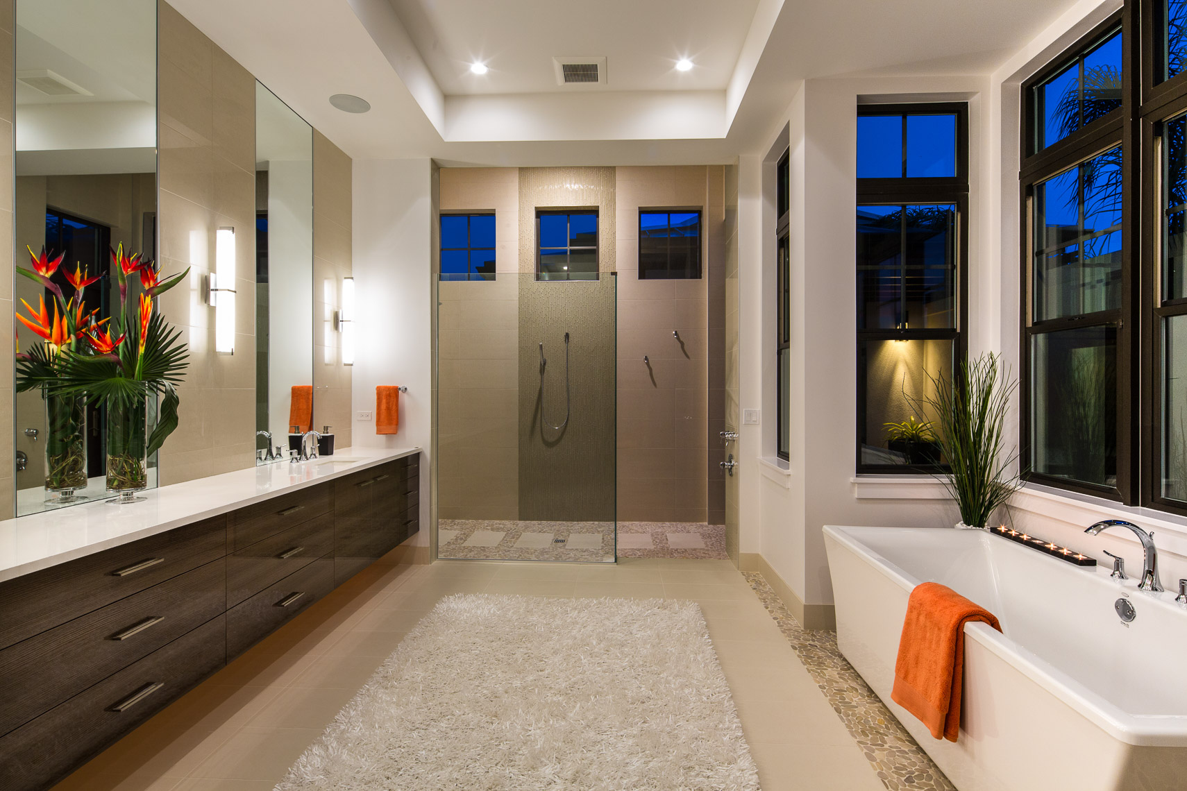 Bathroom, Coastal West Indies Architecture - Mark Borosch Photography - Lakewood Ranch, FL