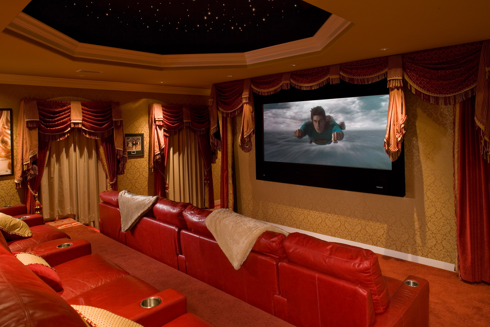 Contemporary Home Theater - Mark Borosch Photography - Bird Key, FL