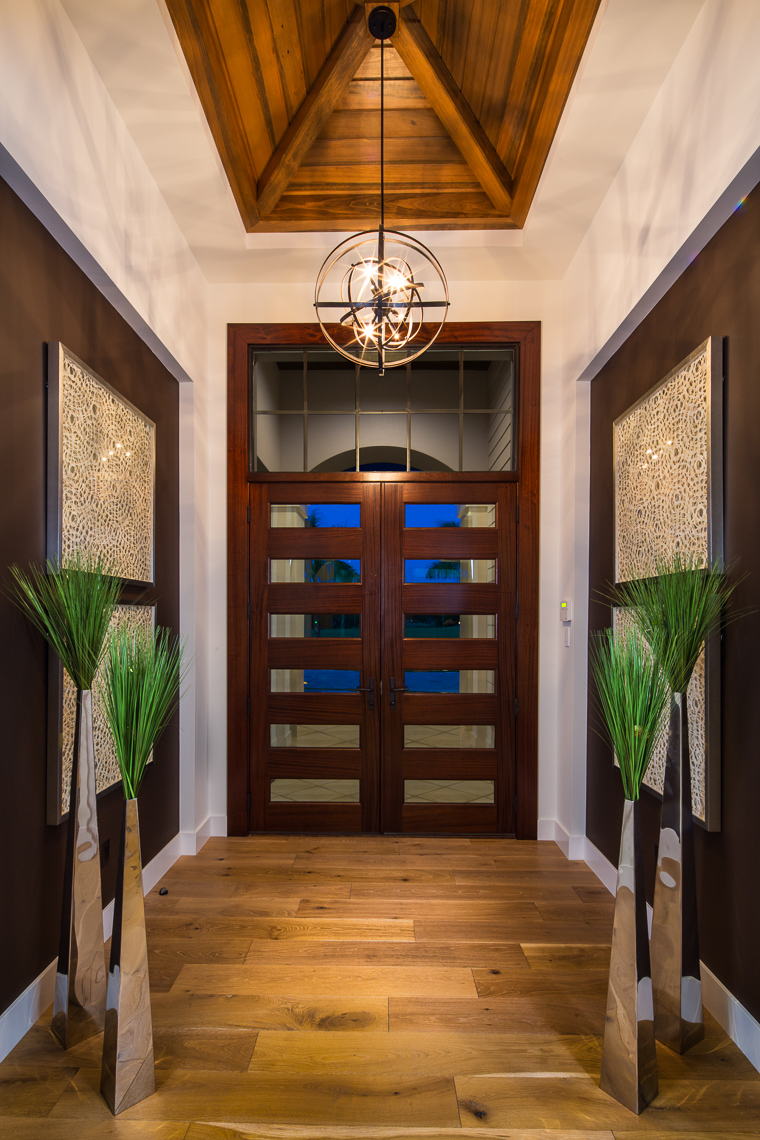 Foyer, Coastal West Indies Architecture - Mark Borosch Photography - Lakewood Ranch, FL