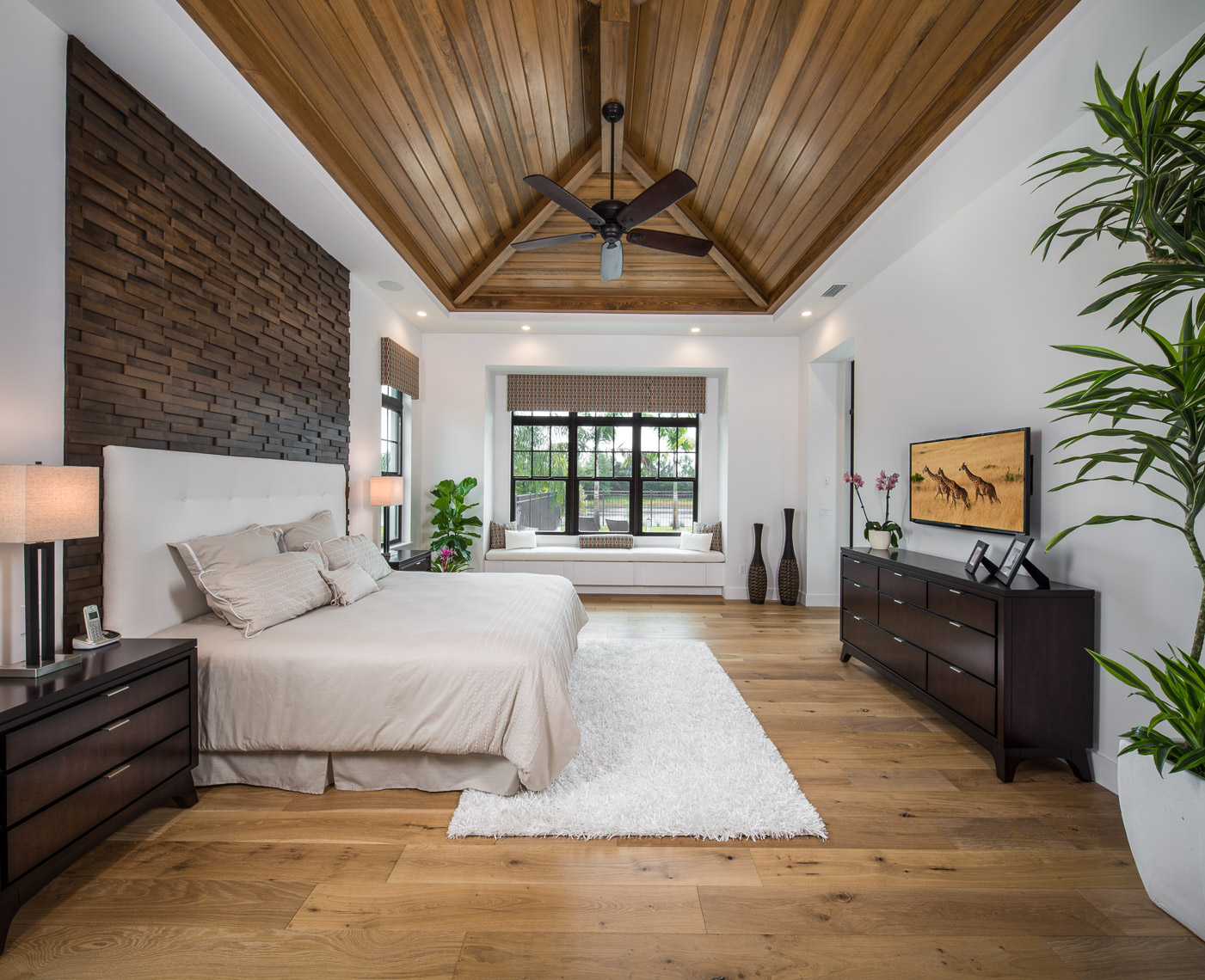 Master Bed Room, Coastal West Indies Architecture - Mark Borosch Photography - Lakewood Ranch, FL