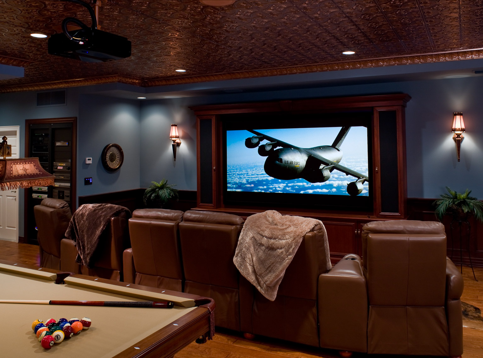 Contemporary Home Theater - Mark Borosch Photography - Sarasota, FL