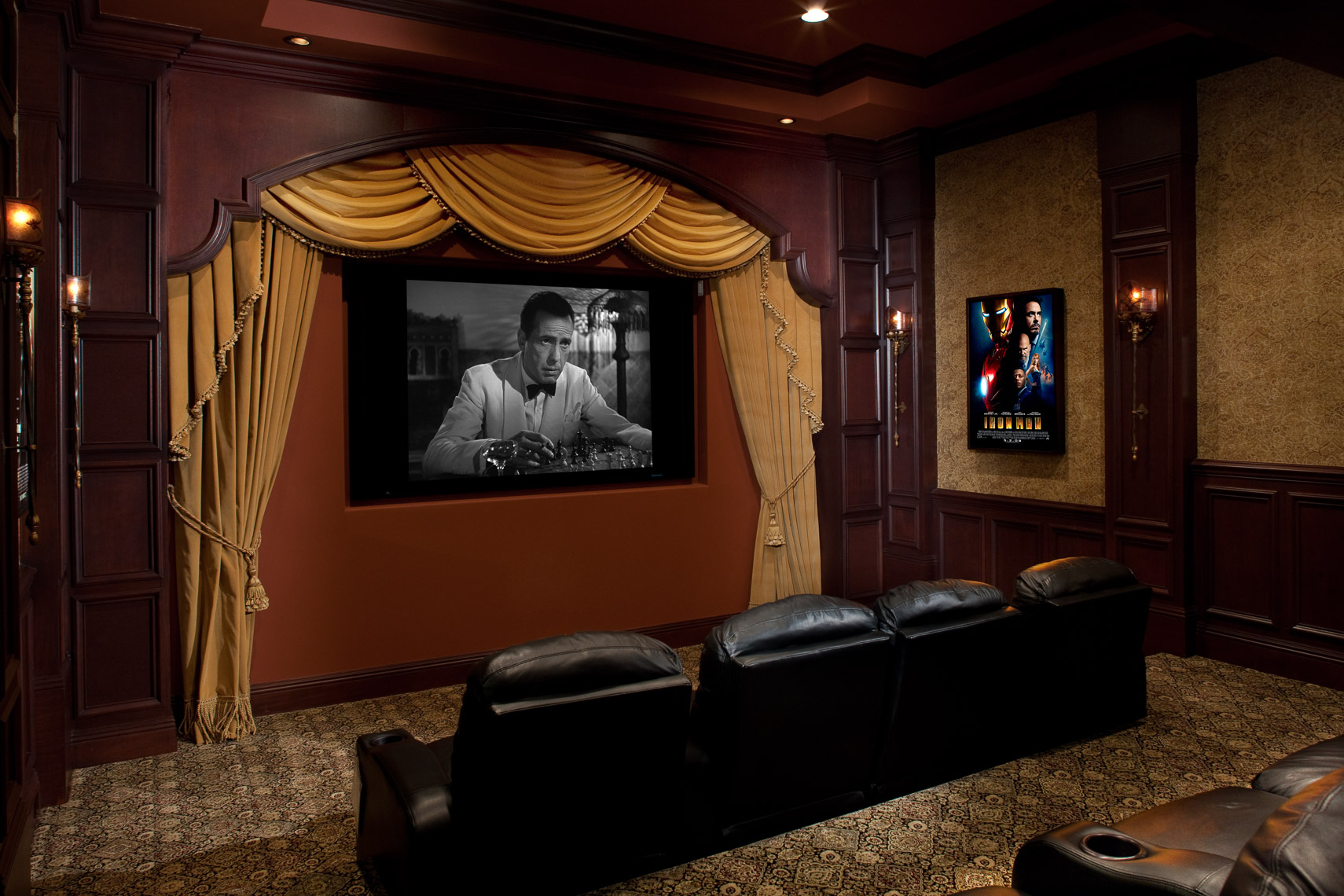 Contemporary Home Theater - Mark Borosch Photography - Tierra Verde, FL